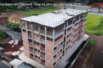 EDIFÍCIO GRACILIANO EM CASCAVEL – FASE DA OBRA EM JANEIRO DE 2019